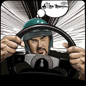 BigMike race-car driving