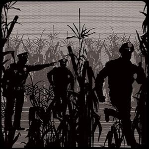 Cops in a cornfield
