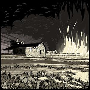 Fields on fire