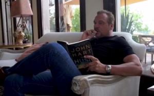 BigMike reading a book